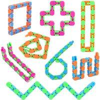 Wacky Tracks Snap Fidget Toys Puzzles Snake Click Sensory Toy Stocking Stufers für Kinder Erwachsene Fokus Adhd OCD hinzufügen