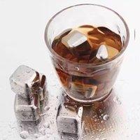304 acier inoxydable glace cube réutilisable de pierres de refroidissement pour le whisky Wine Gardez votre boisson plus longue de glace de glace en métal de whisky rouge refroidissement de vin rouge