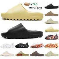 2021 Corredor de espuma Clogar Sandalia Triple Triple Negro Slide Slipper Mujeres Mensos Tainers Bone 450 Diseñador Sandalias de playa Sandalias Slip-On Shoes # 522