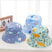 Fishman قبعات خربق قبعة واسعة بريم القبعات القطن الشمس خوذة ظلة القبعات في الهواء الطلق الأطفال الصيف فتاة القبعات مصممي 10 ألوان WMQ644