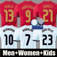 20 21 Portugal Ronaldo Soccer Jerseys Joao Felix 2021 Diogo Andre Silva Bernardo Fernandes Camisa de Futebol Men Kit Kit Kit Camicie da calcio Pizzi Figo Rui Costa