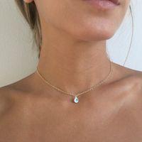 Mini collar de ojos malvados collares colgantes collares oro plateado cadena mujer niña moda joyería fina t029 442 t2