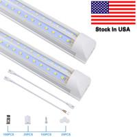 LED-Shop-Licht, 8-Fuß-Rohrlampen, 6500K, kaltweiß, v-Form, klare Abdeckung, Hight-Ausgang, verknüpfte Shops-Lichter, für Garage