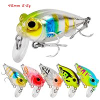 5 Color Mixed 45mm 5.5g Crank Hard Baits & Lures Fishing Hooks 10# Treble Hook Pesca Tackle Accessories WA_656