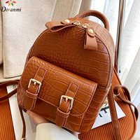 Doranmi حجر نمط حقيبة مدرسية المرأة 2021 مصمم حقيبة الظهر مصغرة الإناث حقيبة الظهر الكلاسيكية mochila SB222