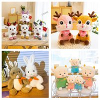 Christmas party Plush Toy Cute little deer Xmas Elk rabbit Sheep doll Valentine's Day angel dolls sleeping pillow Soft Stuffed Animals Soothing Gift For Children