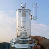 명확한 Mobius 물 담뱃대 사이드카 유리 봉 스테레오 매트릭스 Perc 드럼 Percolator Water Pipes 18mm 조인트 두꺼운 오일 DAB 굴착기