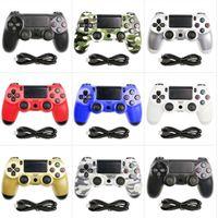 PS4 gamepad اللاسلكية 24 الألوان لعبة وحدة تحكم تحكم الاهتزاز المقود المعالج PS4 gamepad
