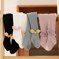 Girls Leggings Pantyhose Kids Tights Cotton Bows Baby Trousers Toddler Skinny Pants Spring Autumn Children Clothing M3672