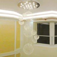나선형 구형 빗방울 샹들리에 조명 플러시 마운트 LED 현대 K9 천장 조명기구 펜던트 램프 식당 욕실 침실 거실 59in