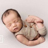Clothing Sets KLV Pants And Vest Set Accessories For Born Pography Props Costume Infant Baby Boy Little Gentleman Outfit