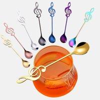 Spoons Ong Handled Musical Note Coffee Tea Stirring Set Stainless Steel Sugar Ice Cream Mug Dessert Spoon Drink Tableware