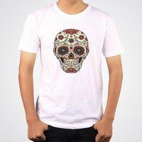 Men's T-Shirts Skull White Black Men T-Shirt Short Sleeve O-Neck Summer Graphic Tops Tees Camiseta Hombre Accept Customized Clothing