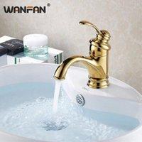 Torneiras do pia do banheiro Torneiras de Wanfan Basina Moderna Deck Montado Torneira Washbasin Single Handbasin e Torneiras de Água Fria HJ-6636K