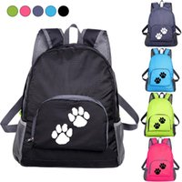 Backpack Girls Casual Printed Shoulder Bag Lightweight Student Outdoor Foldable Shopping Waterproof Travel