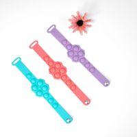 Decompression pops Finger Bubble Pressure Wristband Fidget Toys Push Sensory Ring Bracelet Puzzle Press