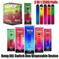 Bang XXL Switch Duo Pro Pro Max 2 in 1 일회용 장치 전자 담배 2000 2500 퍼프 1100mAh 배터리 미리 포드 XXTRA 더블 vape 펜