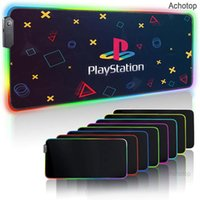 Mouse Pads & Wrist Rests Game Console Playstation PS4 Gaming Pad RGB Laptop Keyboard Large XXL Mat With LED For PS5 PC Gamer