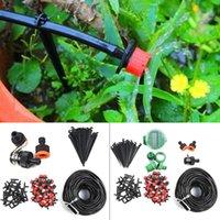 25 M Oto Zamanlayıcı Tesisi Kendinden Sulama Tüpü Mikro-Damla Sulama Sistemi Bahçe Sprey Hortum Kitleri Çiçek Yatak Patio Atrium Garde Için