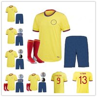 Yeni 2021 2022 11 Cuadrado Uzaktan Futbol Forması Çocuk Kiti 21 22 James Copa Amerika Kolombiya Futbol Gömlek Falcao Camiseta de Futbol Maillot