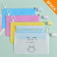 Storage Bags 8pc Fashion Mask Cover Bag Portable Facemask Holder Face Box Case Save Boxes Caja Para Guardar Mascarillas