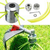 Equipements d'arrosage Tête de trimmer en herbe en aluminium avec 4Lines Accessoires de coupe d'accessoires de coupe de la pelouse de remplacement pour strimmer Y9P2