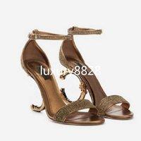 2021 Новая мода роскошные дамы высокие каблуки роскошные удобные буквы подошвы женщин платье обувь размер 35-42