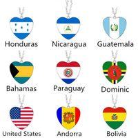 Kolye Kolye Andorra, Bahamalar, Paraguay, Bolivya, Dominika, Honduras, Amerika Birleşik Devletleri, Nikaragua, Guatemala bayrağı kolye