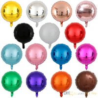 18-дюймовые многоцветные круглые фольги Mylar Balloons для праздничных украшений день рождения Свадебные украшения.