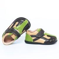 Tipsietoes Подлинная кожа мальчиков мальчиков квартиры для девушки кроссовки детская повседневная обувь 210309