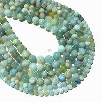 آخر الحجر الطبيعي aquamine العقيق حبة جولة فضفاض الخرز 6 ملليمتر 8 ملليمتر 10 ملليمتر diy قلادة سوار صنع المجوهرات
