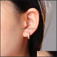 Jewelryluxury Designer 18K Gold Plated Copper Zircon Earrings Men Women Hip Hop Jewelry Iced Out Stud Earings Bling Diamond Earring 784 R2 D