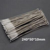 Pincéis de limpeza de limpeza de canudas escova de limpeza de palha de nylon para beber limpador de tubos de aço inoxidável