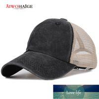 Fashion Retro Summer Mesh baseball Cap Spring Snapback Women Men Washed Cotton Adjustable Hat Trucker Vintage Sport Shades