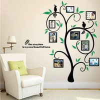 Wall Stickers 3D Acrylic Po Frame Removable DIY Family Tree Decal Sticker Art Poster For Home Living Room Bedroom Decoration