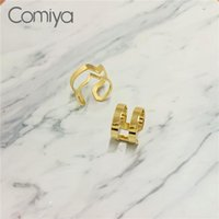 Cluster Rings Comiya Punk Steampunk Accessories Zinc Alloy Gold Color Geometric Party Ring For Women Hollow Out Femme Fashion Bague