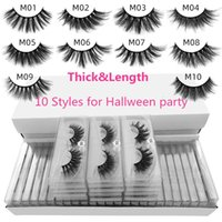 False eyelashes 100 pairs a lot eye tail elongated style mix 10 styles 3d mink eyelash natural long hand made makeup transparent lash boxes without color bottom card