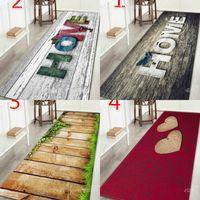 """Wujie الأزياء """"المنزل"""" المطبوعة الخشب نمط الطابق البساط لغرفة المعيشة قابل للغسل نوم حصيرة ديكور المنزل المطبخ السجاد ترحيب حصيرة 748 K2"""