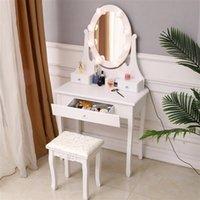 침실 가구 노르딕 럭셔리 드레서 스토리지 캐비닛 드레싱 소녀 메이크업 테이블 LED 라이트 미러