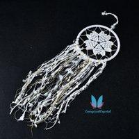 جميلة حلم الأبيض الماسك صافي شرابة القلب diy reiki غرفة الديكور هدية