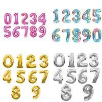 6 цветов 32 или 16-дюймовый номер 0-9 Воздушные шары, свадебные комнаты, декорированные день рождения, алюминиевые шарики фильма 242 U2