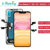 OLED ЖК-экран для iPhone X XS XR XSMAX 11 Дисплей Сенсорная панель Digitizer Устройство Замена Замена Частей Противодействие TFT Качество Идеальный цвет 100% Тестирован хорошо