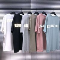 두꺼운 패브릭 반사 안개 Essentials T 셔츠 남성 여성 1 : 1 고품질 탑 티 대형 kanye 웨스트 티셔츠 x1214