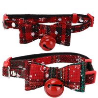 Cat Collars & Leads Pet Bow Tie Collar Cute With Bell For Puppy Kitten