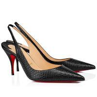 Yaz Elbiseler Ayakkabı Beyaz Siyah Patent Deri Sivri Toe Tarzı Yay Kırmızı Alt Yüksek Topuklu Muhteşem Kadınlar Sivri Toes Toes Pompaları Elbise
