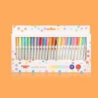 3pcs or 5pcs set zebra mildliner color Japanese stationery double headed fluorescent pen hook pen color Mark pen kawaii