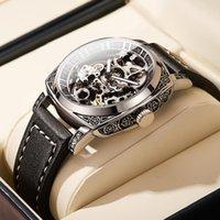 Wristwatches 2021 Men's Casual Watch, Top Luxury Automatic Mechanical Waterproof Luminous Hollow Hand Watch