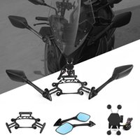 Motorcycle Rear View Mirrors Front Fixed Stent Mobile hone Bracket Holder GPS Plate mirror For Yamaha XMAX X-MAX 250 300 400