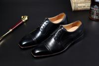 2021 Nouveaux chaussures en cuir à la main sur mesure haut de gamme Seme-semi-gamme personnalisée, en tissu supérieur doublure en cuir Semelle Semelle Semelle Semelle Semelle Noir Brown