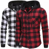 Lapel Neck Hooded Shirts Spring Male Casual Single Breasted ...